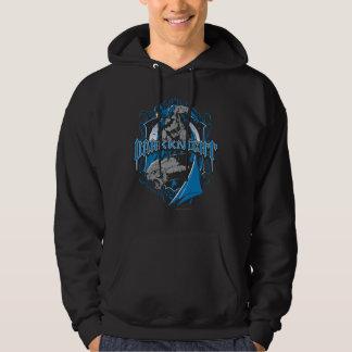 Batman Dark Knight | Blue Grey Logo Hoodie