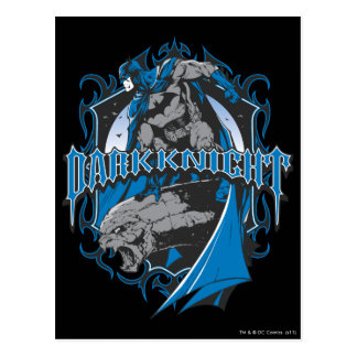 Batman Dark Knight | Blue Grey Logo Postcard