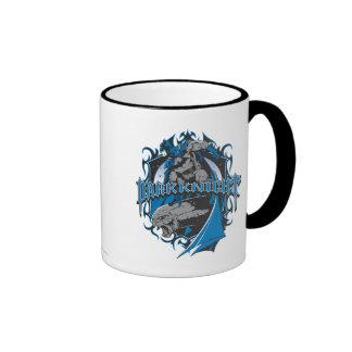 Batman Dark Knight   Blue Grey Logo Ringer Mug