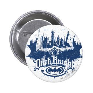 Batman Dark Knight | Cityscape Blue Logo 6 Cm Round Badge