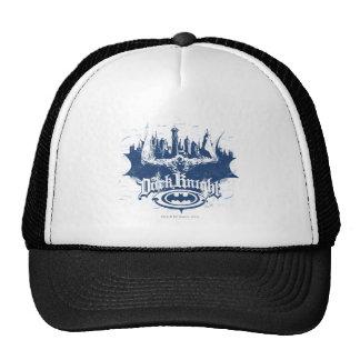Batman Dark Knight   Cityscape Blue Logo Cap