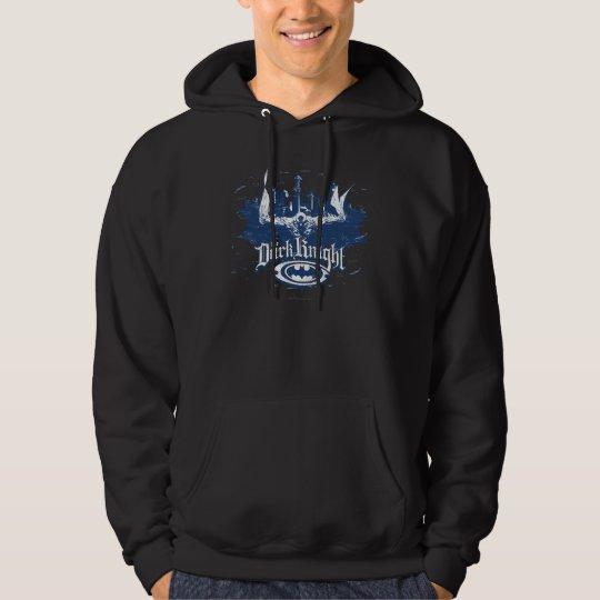 Batman Dark Knight | Cityscape Blue Logo Hoodie