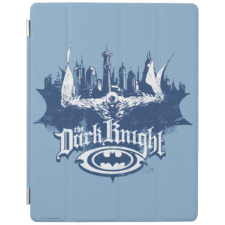 Batman Dark Knight | Cityscape Blue Logo iPad Cover