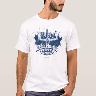 Batman Dark Knight | Cityscape Blue Logo T-Shirt