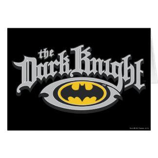 Batman Dark Knight | Name and Oval Logo Greeting Card