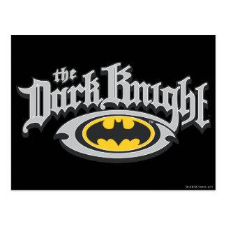 Batman Dark Knight | Name and Oval Logo Postcard