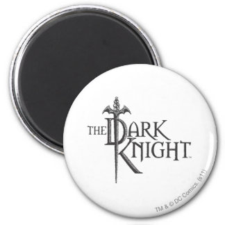 Batman Dark Knight | Name Brown Logo 6 Cm Round Magnet