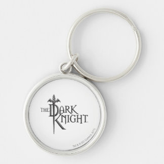 Batman Dark Knight | Name Brown Logo Silver-Colored Round Key Ring