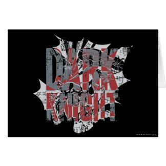 Batman Dark Knight | Name Red Grey Logo Greeting Card