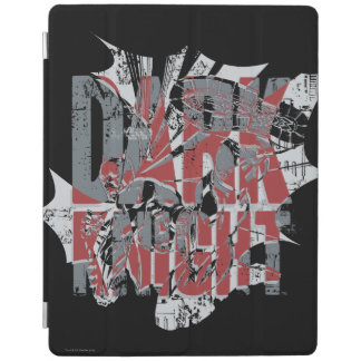 Batman Dark Knight | Name Red Grey Logo iPad Cover