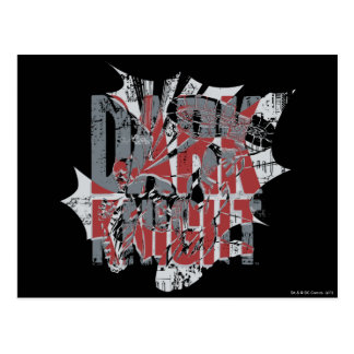 Batman Dark Knight | Name Red Grey Logo Postcard