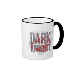 Batman Dark Knight | Name Red Grey Logo Ringer Mug