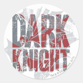 Batman Dark Knight | Name Red Grey Logo Round Sticker
