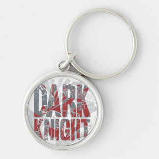 Batman Dark Knight | Name Red Grey Logo Silver-Colored Round Key Ring