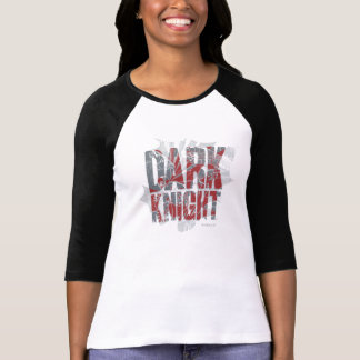 Batman Dark Knight   Name Red Grey Logo Tee Shirt