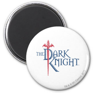 Batman Dark Knight | Name Red Sword Logo 6 Cm Round Magnet