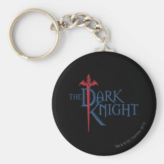 Batman Dark Knight | Name Red Sword Logo Basic Round Button Key Ring