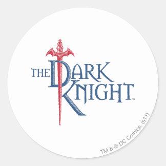 Batman Dark Knight | Name Red Sword Logo Classic Round Sticker