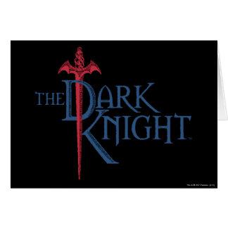Batman Dark Knight | Name Red Sword Logo Greeting Card