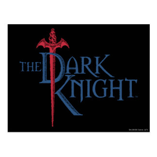 Batman Dark Knight | Name Red Sword Logo Postcard