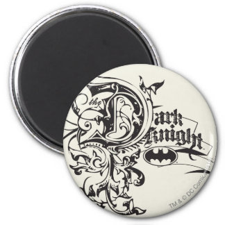 Batman Dark Knight | Ornate Logo 6 Cm Round Magnet