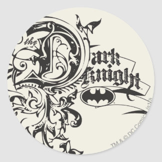 Batman Dark Knight | Ornate Logo Classic Round Sticker