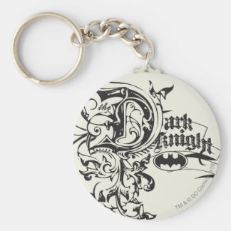 Batman Dark Knight | Ornate Logo Key Ring