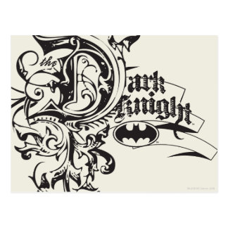 Batman Dark Knight | Ornate Logo Postcard