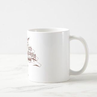 Batman Dark Knight | Urban Brown Logo Basic White Mug