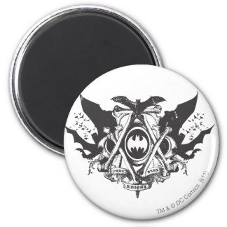 Batman Dark Knight | Various Bats Logo 6 Cm Round Magnet