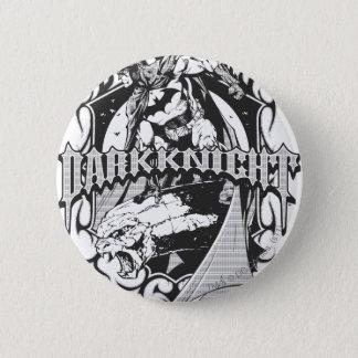 Batman Dark Knight | White Grey Outline Logo 6 Cm Round Badge
