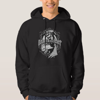 Batman Dark Knight | White Grey Outline Logo Hoody