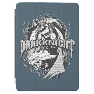 Batman Dark Knight | White Grey Outline Logo iPad Air Cover