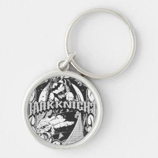 Batman Dark Knight | White Grey Outline Logo Key Ring