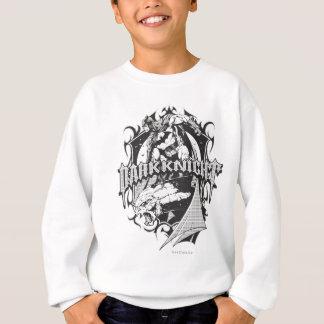 Batman Dark Knight | White Grey Outline Logo Sweatshirt