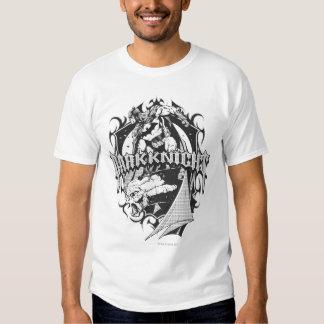 Batman Dark Knight | White Grey Outline Logo T-shirts