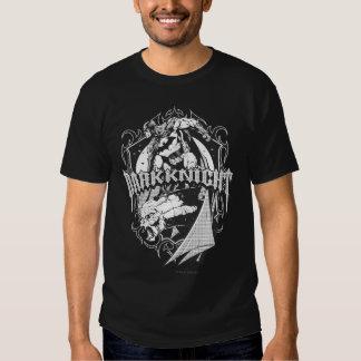 Batman Dark Knight White Grey Outline Logo Tshirts