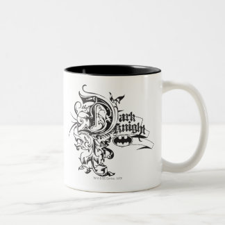 Batman Dark Night | Ornate Logo Two-Tone Coffee Mug