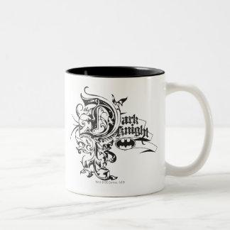 Batman Dark Night | Ornate Logo Two-Tone Mug