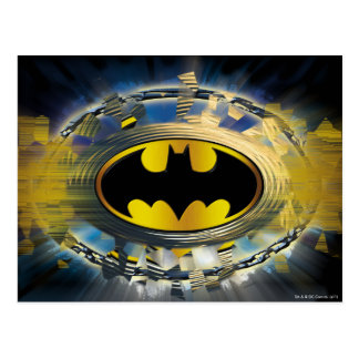 Batman Decorated Logo Postcard