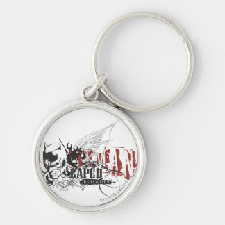 Batman Design 7 Silver-Colored Round Key Ring