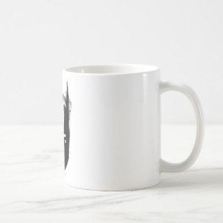 Batman Drawn Face Basic White Mug