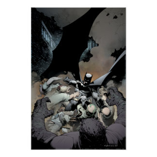 Batman Fighting Arch Enemies Poster
