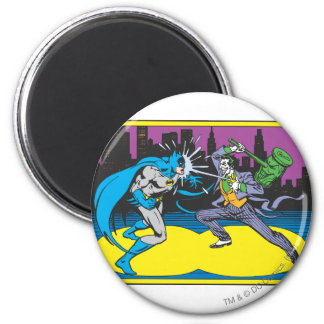 Batman Fights Joker 6 Cm Round Magnet