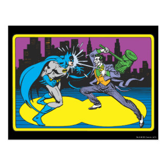 Batman Fights Joker Postcard
