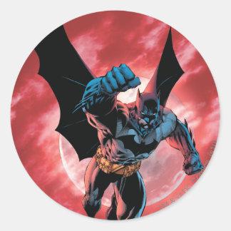 Batman Firey Sky Round Stickers