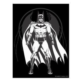 Batman from logo postcard