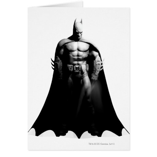 Batman Front View B/W Greeting Cards