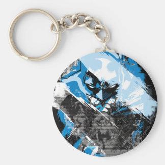 Batman Future Cityscape Montage Basic Round Button Key Ring