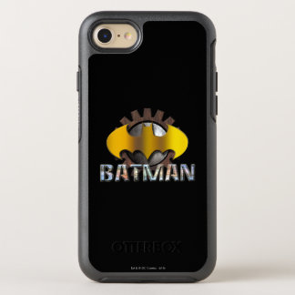 Batman | Gear Background Logo OtterBox Symmetry iPhone 8/7 Case